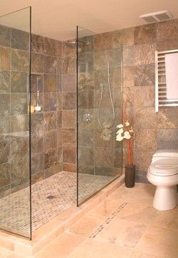 Showers Without Doors Open Shower Without Door Asian Bathroom Seattle By Christi Bathroom Shower Design Bathroom Remodel Shower Showers Without Doors