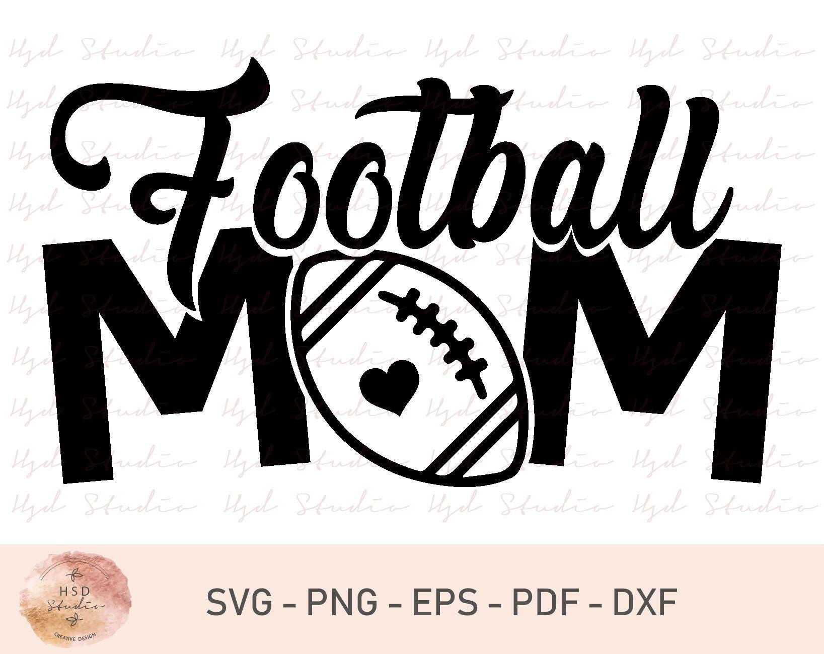 Football Mom Svg File, Football Svg, Football Svg Design