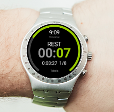 Interval timer application for Android Wear Watch Face