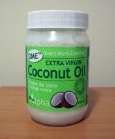 coconut oil restores the natural oils in your hair to make it stronger and healthier then before