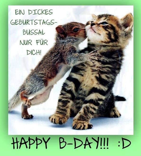 Ein Dickes Geburtstags Bussal Nur Fur Dich Spruche Pinterest