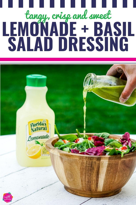 Summer Salad With Lemonade Basil Dressing My Life And Kids Recipe Summer Salads Fresh Basil Recipes Basil Salad Dressings [ 1500 x 1000 Pixel ]