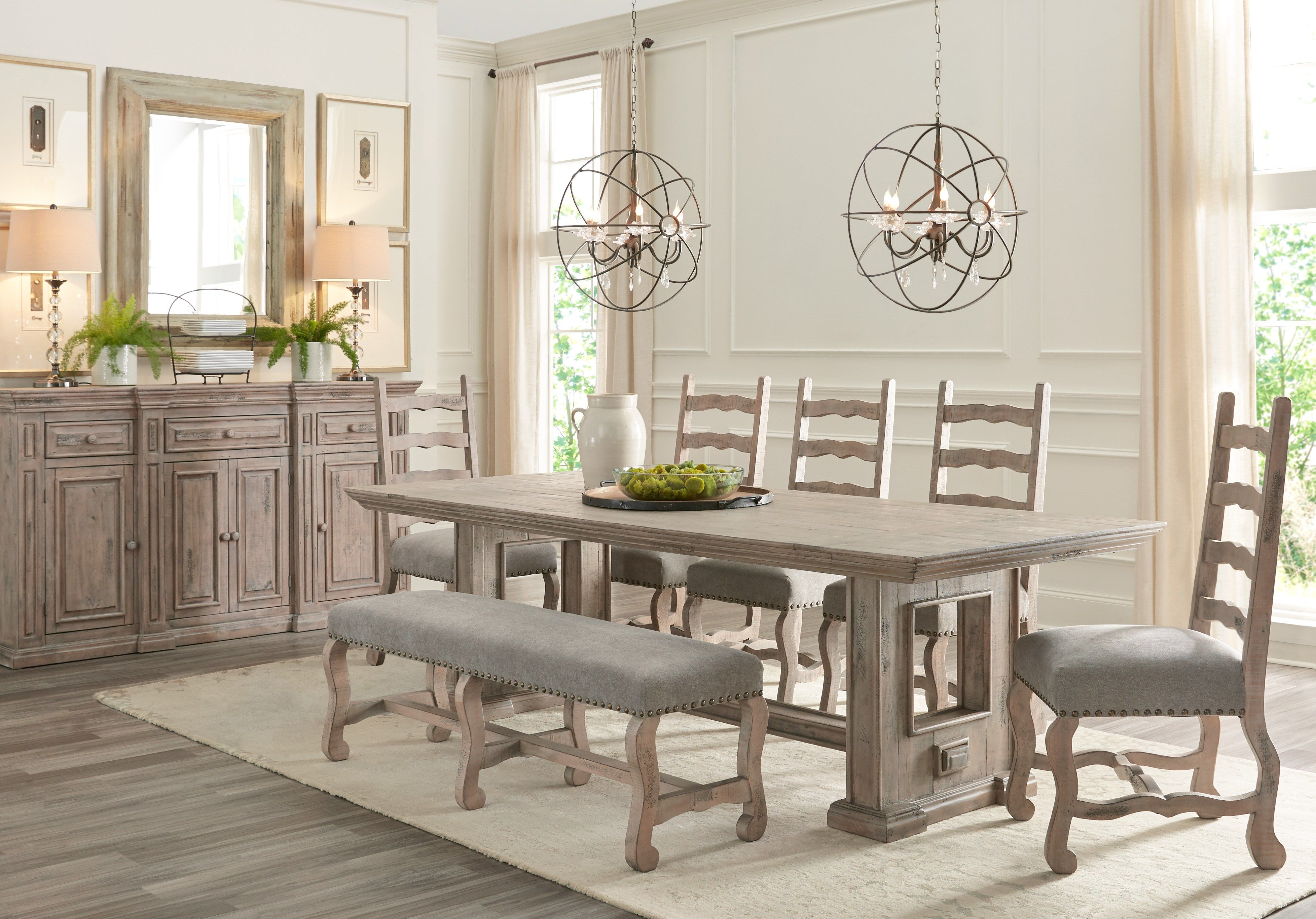 Pine Manor Brown 6 Pc Dining Room Antique Dining Room Table Dining Room Sets Dining Room Furniture Sets