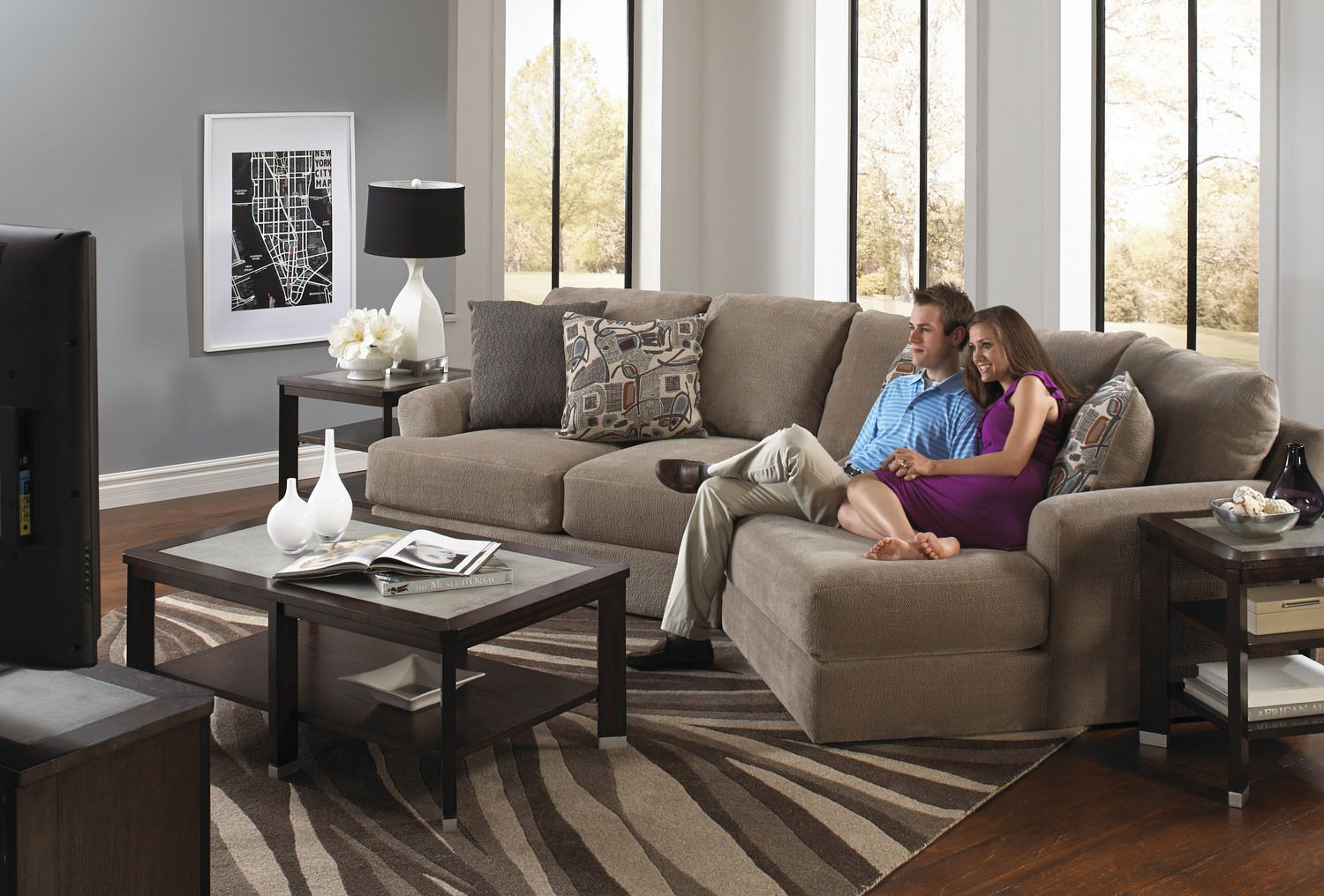 Regal 2 Piece Modular Sectional