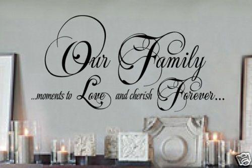 Family Vinyl Wall Lettering Words Sticky Art Custom