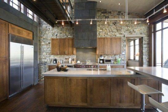 43 cuisines avec de superbes lots ou comptoirs de cuisine - Refaire sa cuisine rustique en moderne ...