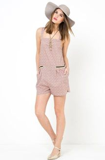 Mademoiselle R Cotton Rich Playsuit with Cutaway Shoulders