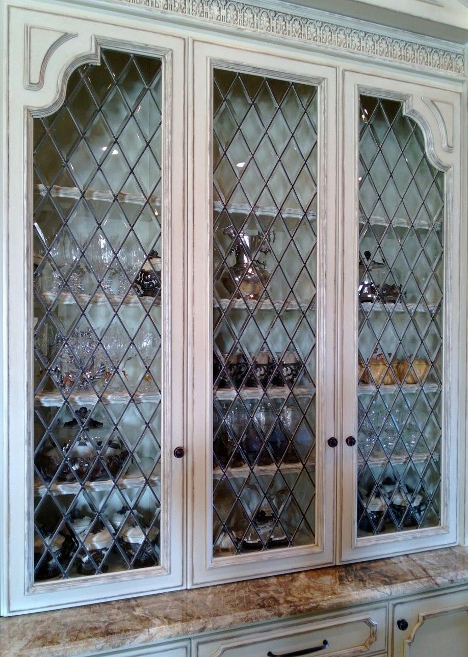 Beveled Diamonds Leaded Glass Panel Glass Cabinet Doors Leaded Glass Cabinet Doors Leaded Glass Cabinets