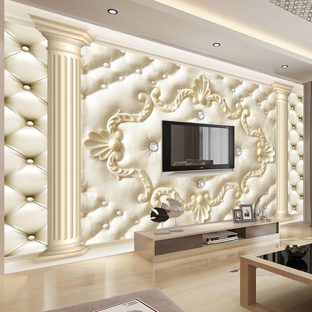 3d Wallpaper Bedroom Mural Roll Modern Luxury Embossed Backgr