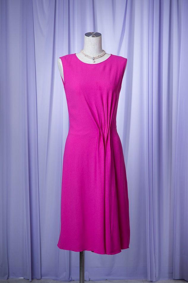 buy popular 49145 fee08 Dior ディオール フューシャピンクドレス - 結婚式・パーティ ...