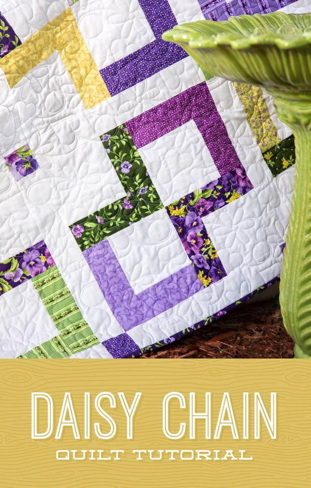 This Quilt Is Sweet And Simple Just Like A Daisy Chain
