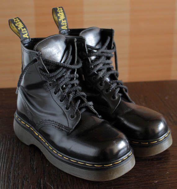 Dr Martens platform vintage boots 8eylet by VintagePlatformDeal