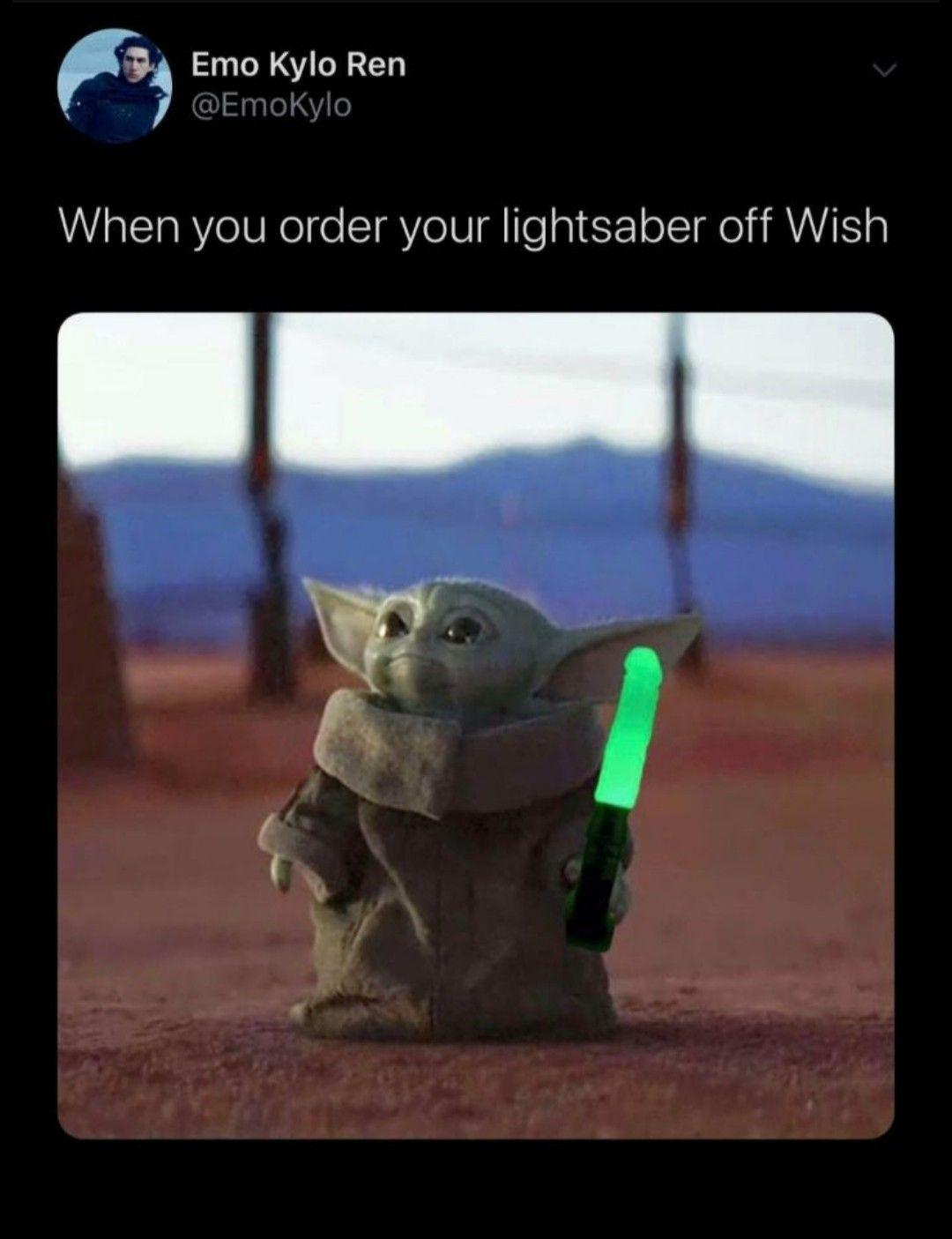 Baby Yoda Yoda Meme Emo Kylo Ren Fish Pet
