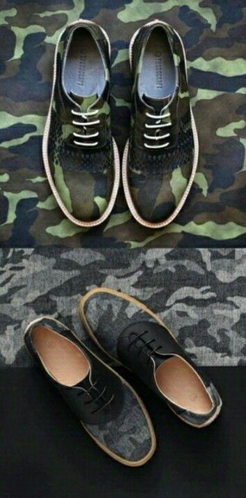 Camo print shoes