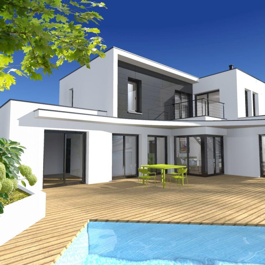 Maison Contemporaine Toit Terrasse projet d'une grande maison contemporaine à toit plat avec