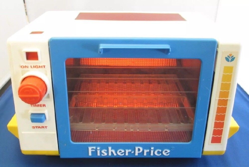 Fisher Price 1987 Baking Toaster Oven Fun With Play Food 4 Little Tikes Vintage Fisherprice Toaster Oven Fisher Price Vintage Fisher Price