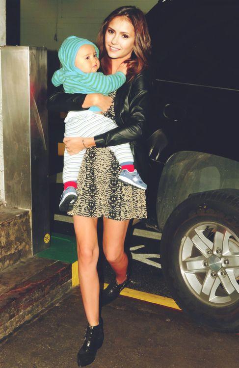 aww so cute Nina with a baby. Nina Dobrev - The Vampire Diaries. ♥