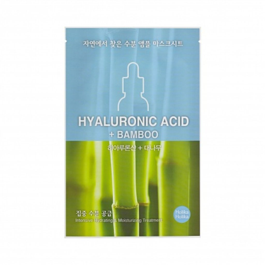 Holika Hyaluronic Acid Ampoule Essence Mask Sheet Maschere 5 Pure Shea Butter