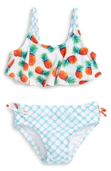 85479faff7 Sol Swim 'Pineapple Disco' Two-Piece Swimsuit (Baby Girls) available ...