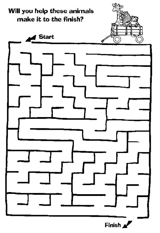 Maze Page Print Your Free Maze At Allkidsnetwork Com With