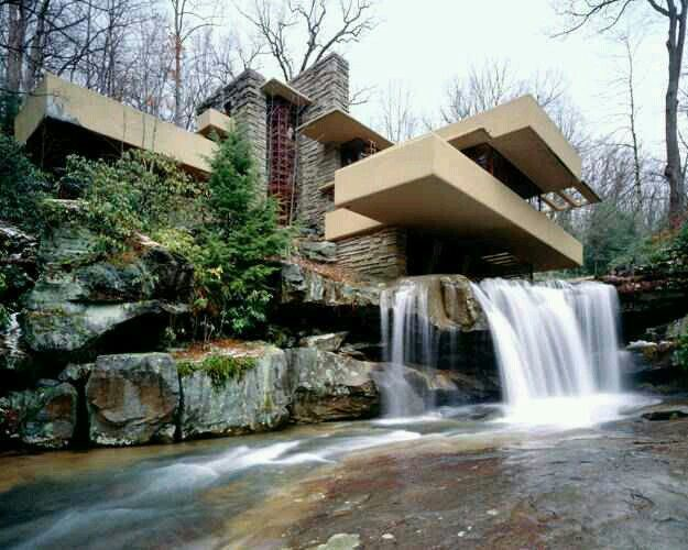 falling water by frank lloyd wright i absolutely love this house dreamy h mes pools. Black Bedroom Furniture Sets. Home Design Ideas