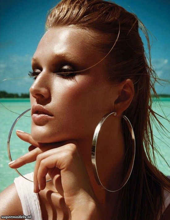Toni Garrn in 'Tropical Princess' - Photographed by François Nars (Vogue Japan August 2012)