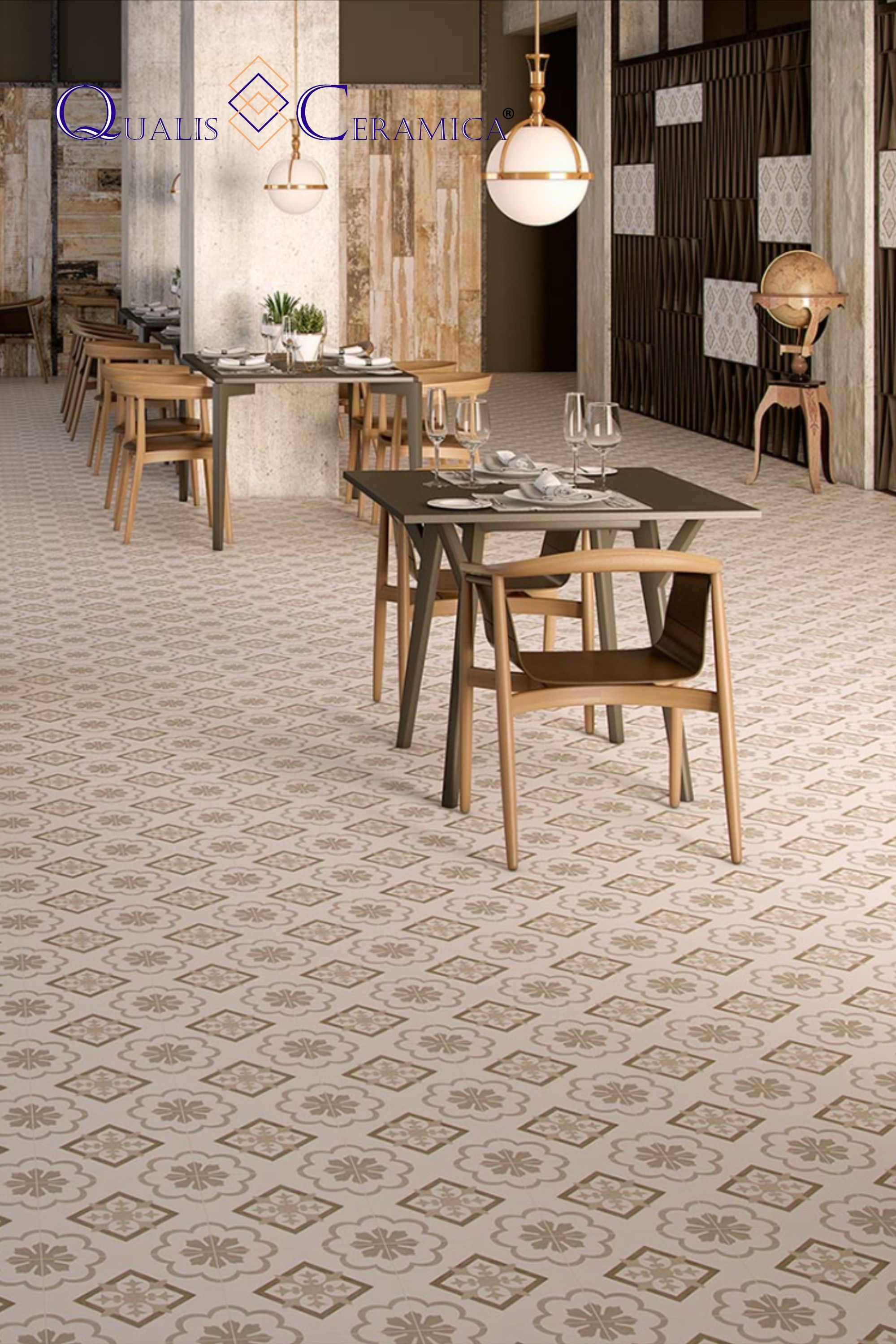 Qualis Ceramica Gibraltar Catalan Beige 10x10 Dining Floor And Wall Cement Look Porcelain Tile In 2020 Flooring Entryway Flooring Porcelain Tile