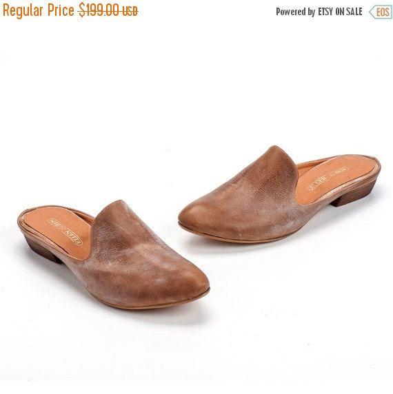 Leather sandals women, Flat shoes women