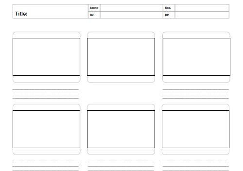 photo relating to Storyboard Template Printable named Cost-free Printable Sketching, Wireframing and Observe-Using PDF