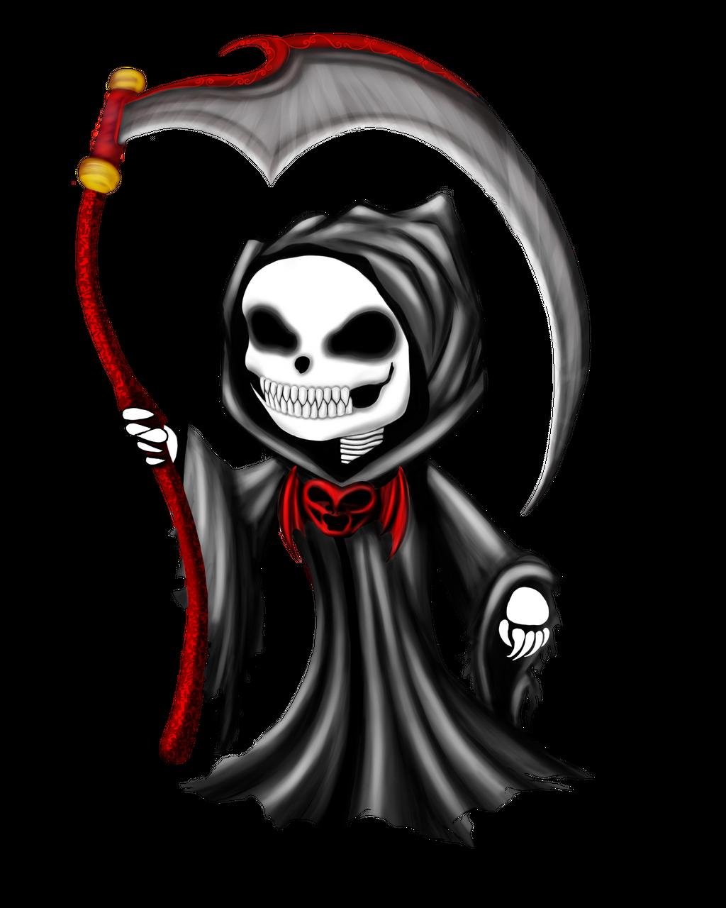 Chibi Grim Reaper By Tarasf On Deviantart Grim Reaper Tattoo Grim Reaper Drawing Reaper Drawing