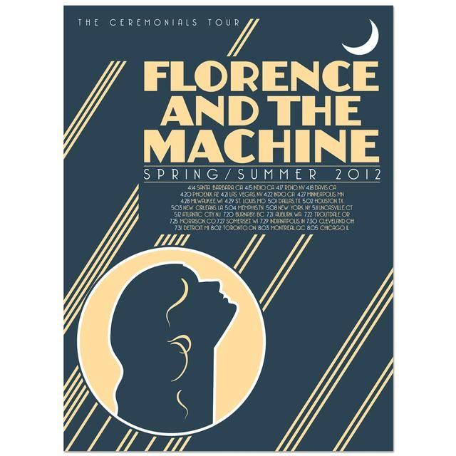 Check Out Florence And The Machine Tour Poster On Merchbar Tour