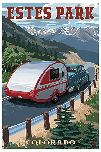 Estes Park, Colorado - Retro Camper (12x18 Art Print, Wall Decor Poster) Lantern Press http://www.amazon.com/dp/B00N5CROW2/ref=cm_sw_r_pi_dp_0Bpcvb14RJPN0