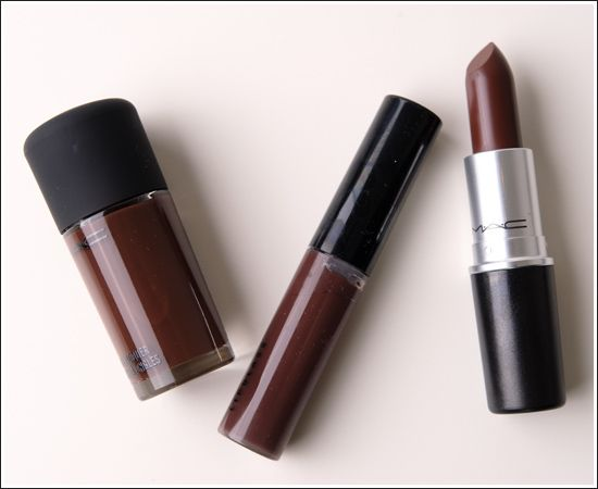 MAC Chestnut Lipglass, Lipstick, Nail Lacquer Review, Photos ...
