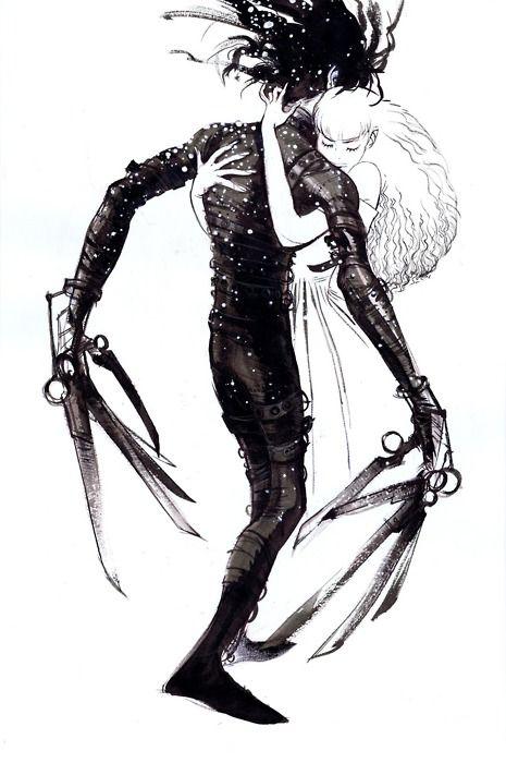 Edward Scissorhands   Tim Burton   Pinterest   Ilustraciones, Cuento ...