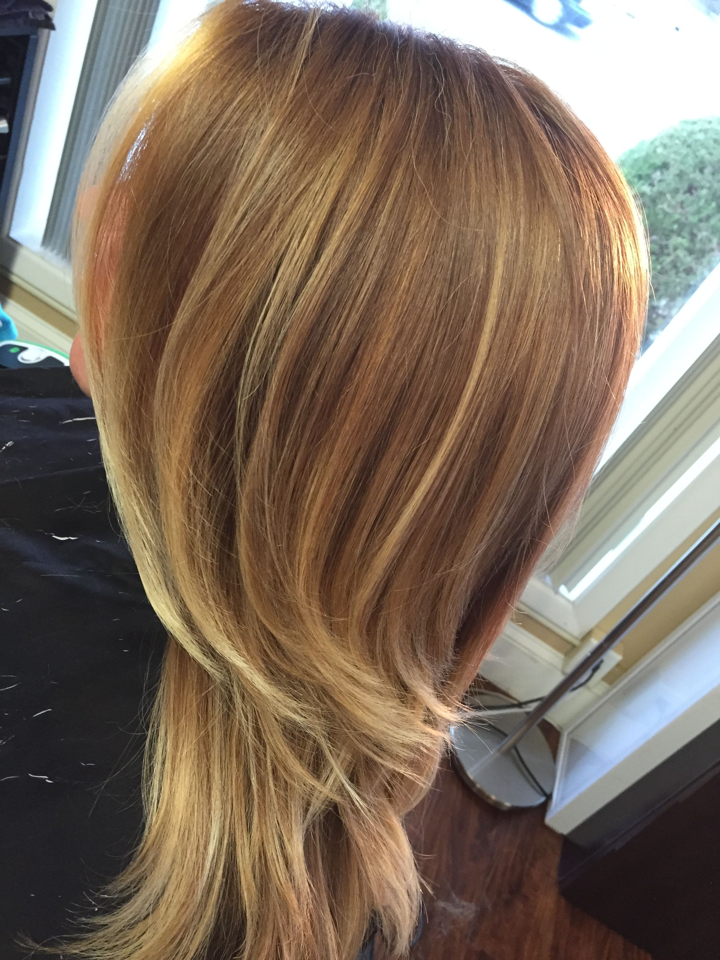 Golden Copper Blonde Ombre Light Golden Brown Hair Ombre Hair Blonde Light Hair