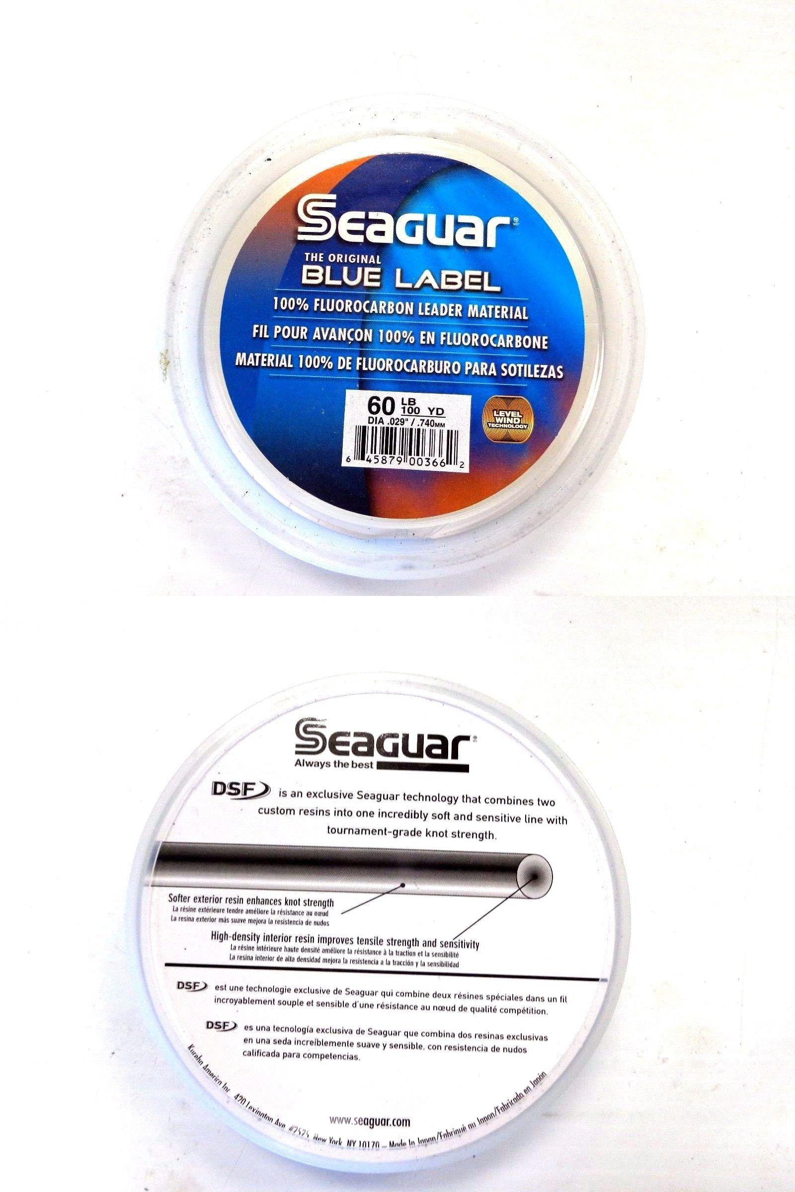 82bc2623d8c Leaders and Leader Material 179970  Seaguar Blue Label 100% Fluorocarbon  Leader 60 Lb Test