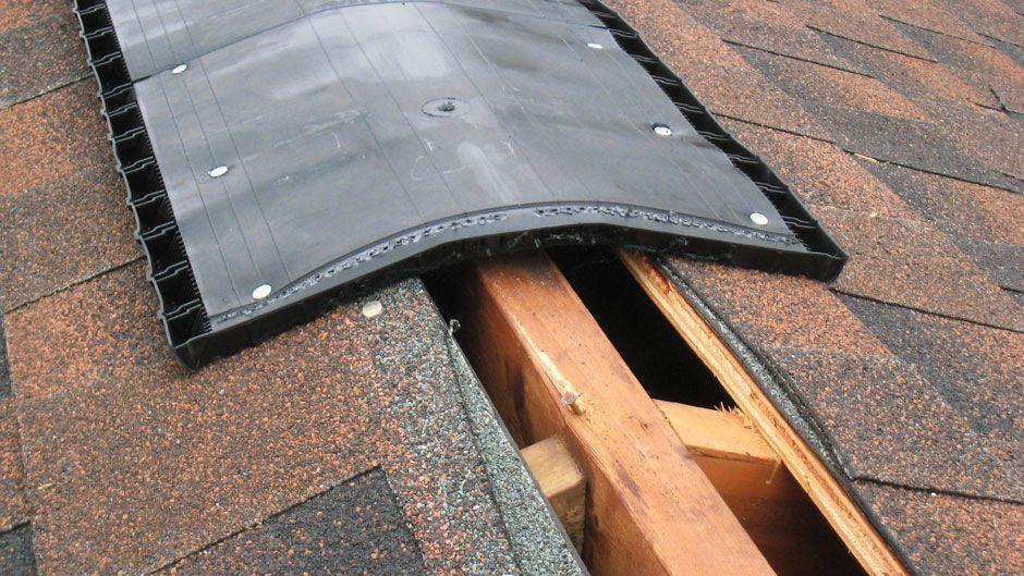 Ridge Vent On Roof Attic Ventilation Ridge Vent Roof