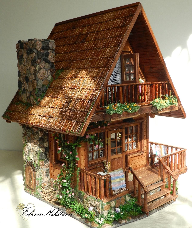 Chalet style dollhouse doll houses and more pinterest casas miniaturas y casitas - Casas en miniatura de madera ...