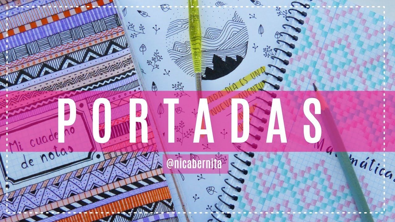 Ideas De Portadas Para Cuadernos Decorar Libretas Con: CARÁTULAS Y PORTADAS PARA CUADERNOS Cuadriculados