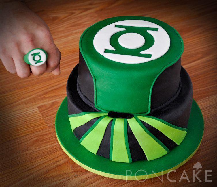 Pleasing Green Lantern Cake Torta De Linterna Verde Green Lantern Cake Funny Birthday Cards Online Amentibdeldamsfinfo