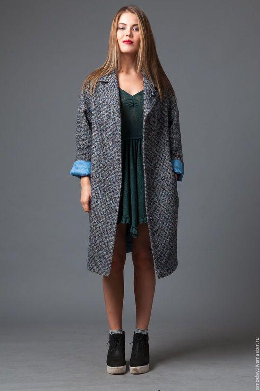 пальто из твида пальто шанель пальто на подкладке пальто синее пальто  демисезонное пальто из шерсти пальто 7dcf15ac540f1