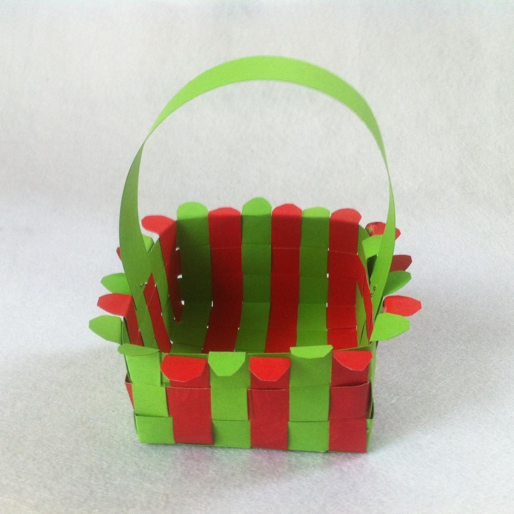 Diy Paper Easter Basket  How To Weave A Paper Basket