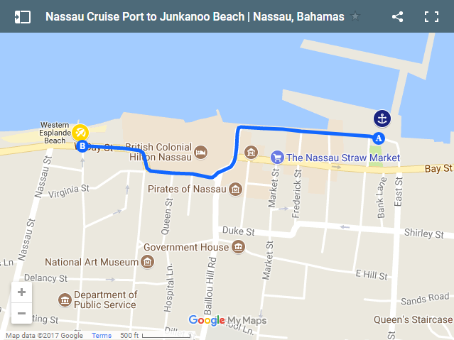 How To Get To Junkanoo Beach From Cruise Port Nassau