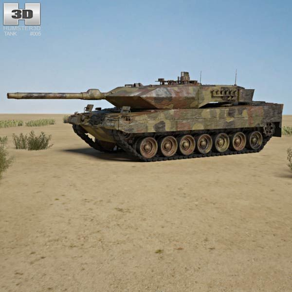 Leopard 2A6 3d model from humster3d com  Price: $95