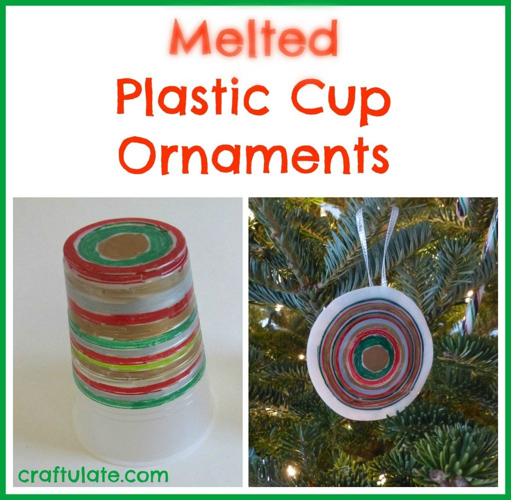 Melted Plastic Cup Ornaments - Craftulate