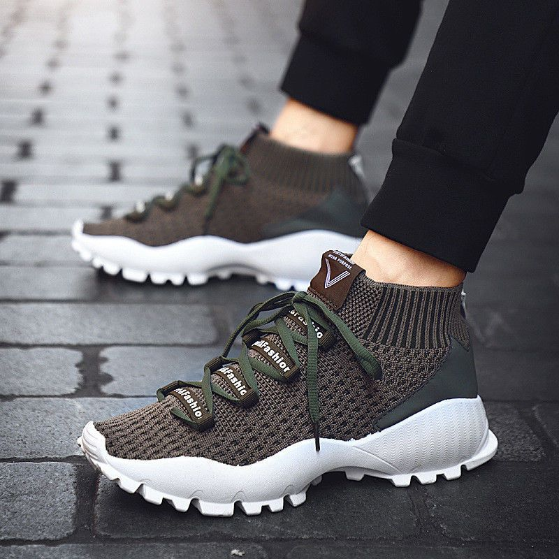 65595b910d0f4 2019 Autumn New Men's Breathable Casual High Shoes Sport Running Shoes  Trainers #fashion #clothing #shoes #accessories #mensshoes #athleticshoes