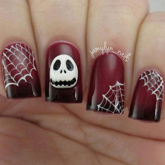 Jack Skellington nails by @jamylyn_nails! #notd #nailart #bbloggers ...