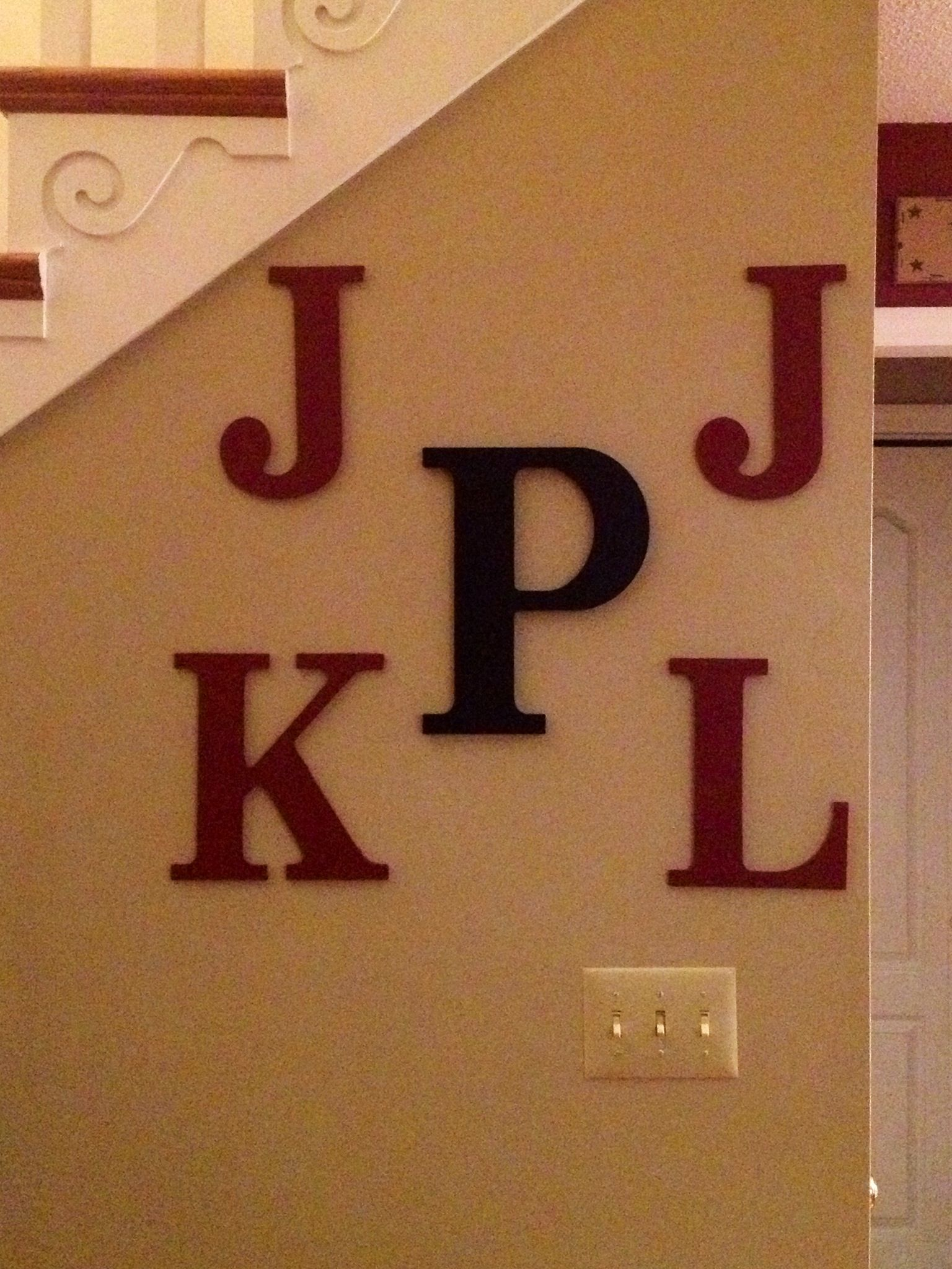 First And Last Name Initials Wall Decor Initial Decor Initial Wall Decor Basement Decor