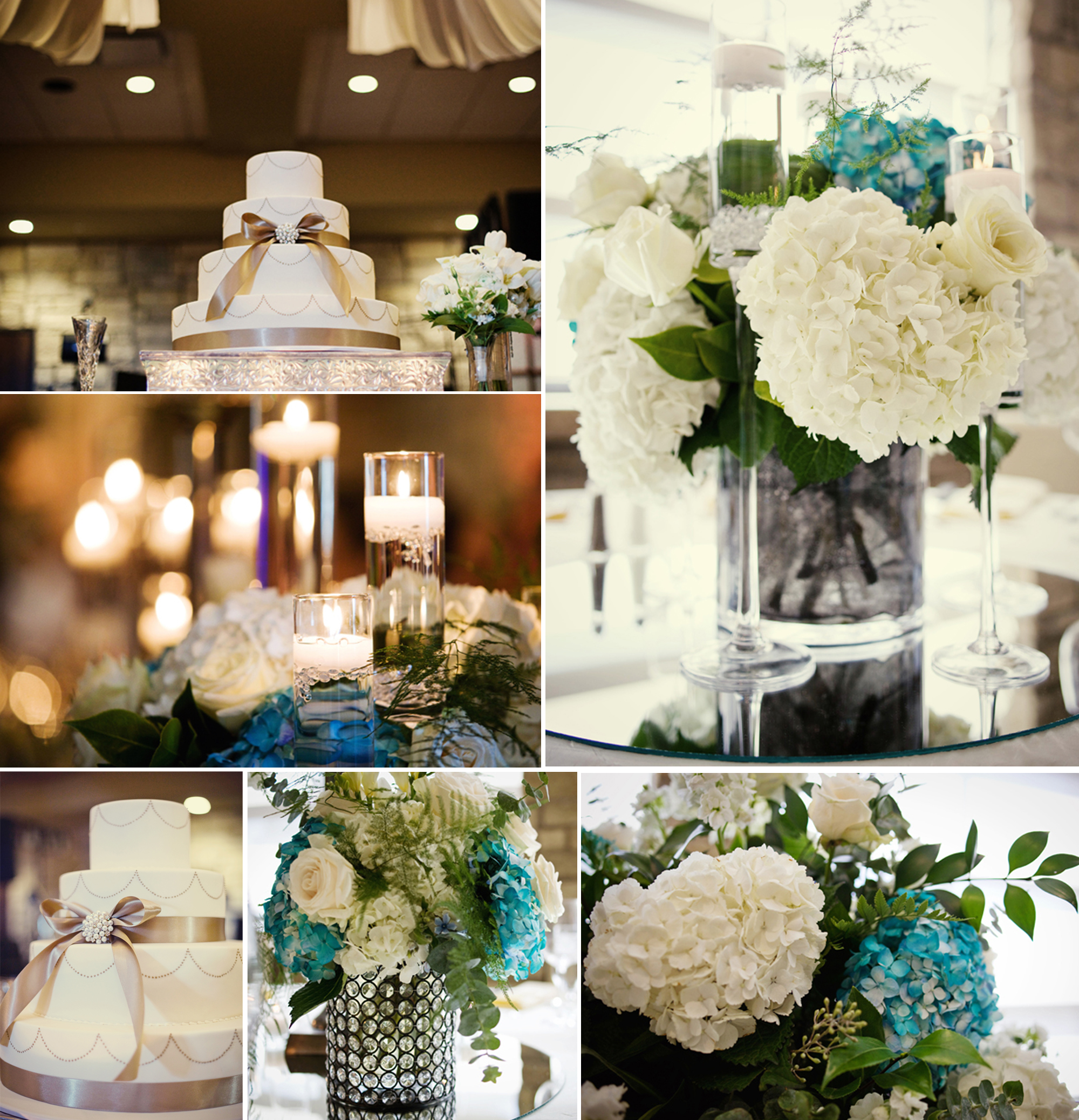 Elegant wedding centerpieces - Wedding Reception Centerpieces Elegant Ivory Cake Onewedcom
