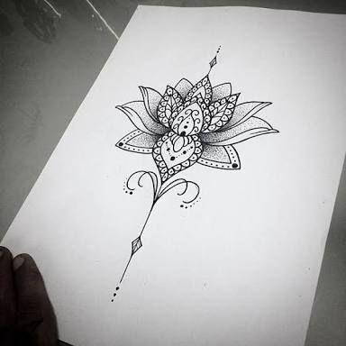 Image Result For Unalome Lotus Flower Meaning Tattoos Mandala